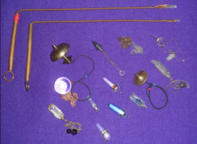 Photo of pendulums and other alternative healing tools